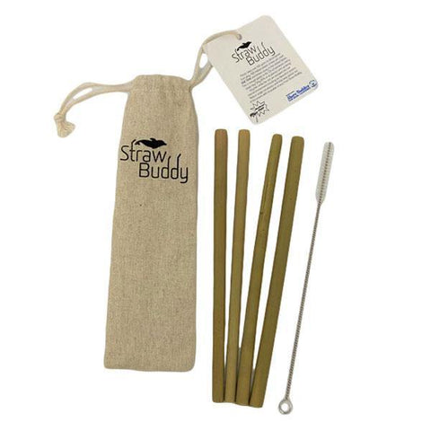 Straw Buddy Bamboo Straw Pack