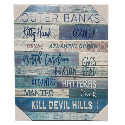 Outer Banks Canvas - Light Blue - Large
