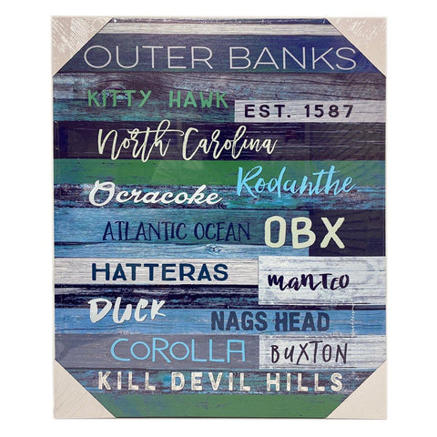 Outer Banks Canvas - Dark Blue -Large