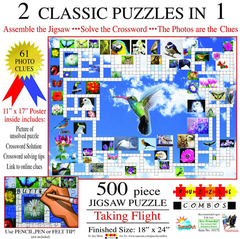 Taking Flight - Crossword / Puzzle Combo