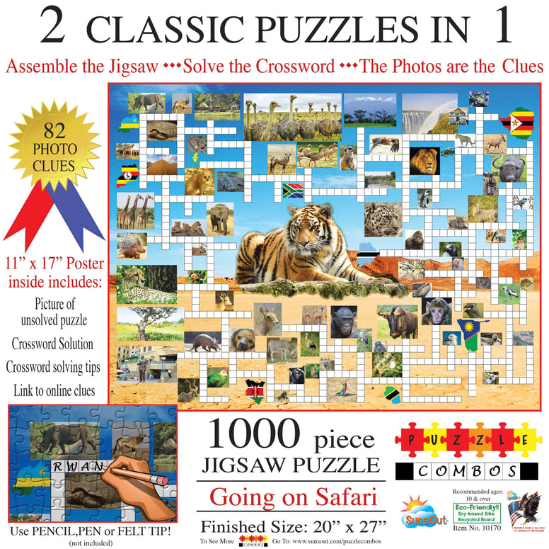 Going on Safari - Crossword / Puzzle Combo