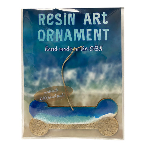 Resin Art Ornaments - Dog Bone