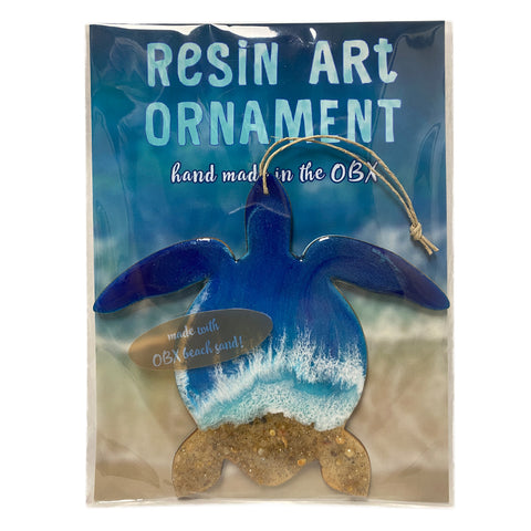 Resin Art Ornaments - Sea Turtle