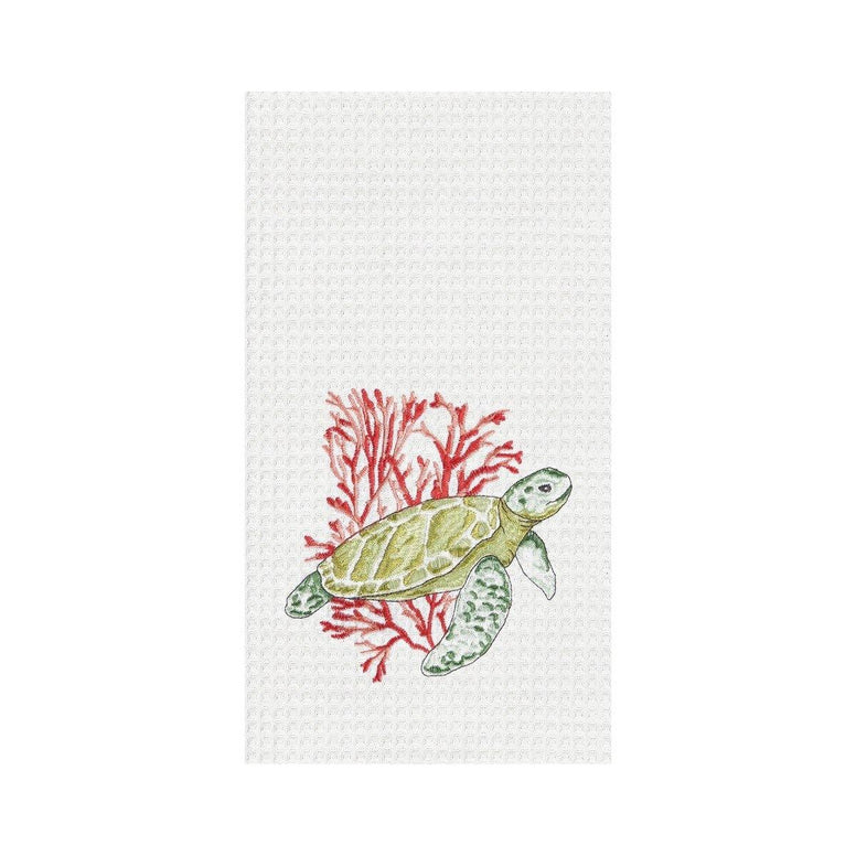 Turtle & Coral Towel