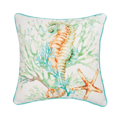 Colorful Seahorse - Pillow