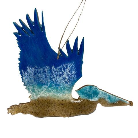 Resin Art Ornaments - Pelican