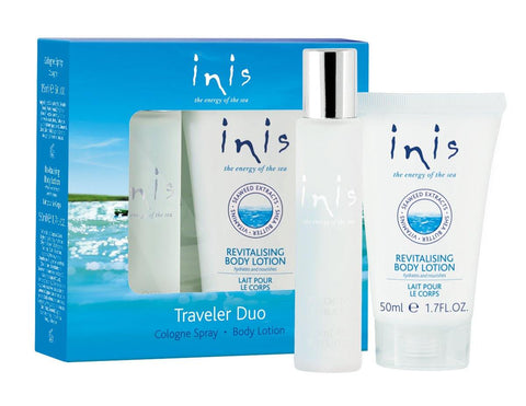 Inis Traveler Duo, Cologne Spray & Body Lotion