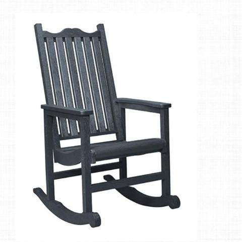 Porch Rocker, Slate Grey