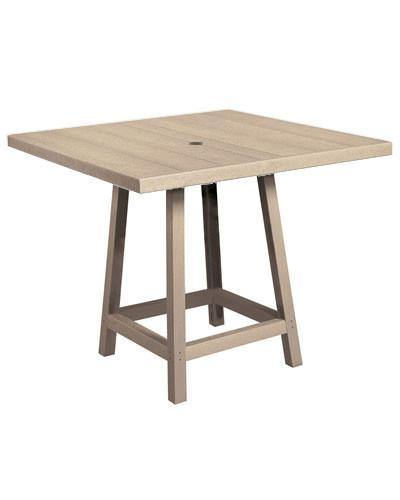 40 square pub table cottage shop square pub table beige watchthetrailerfo