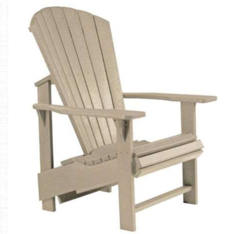 Upright Adirondack Chair, Beige