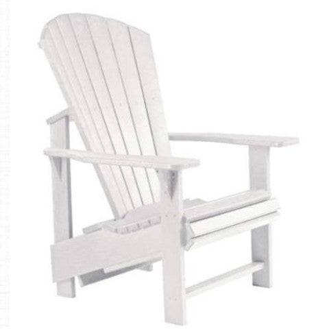 Upright Adirondack Chair, White
