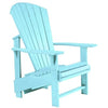 Upright Adirondack Chair, Aqua