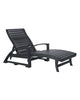 St. Tropez Chaise Lounge, Black