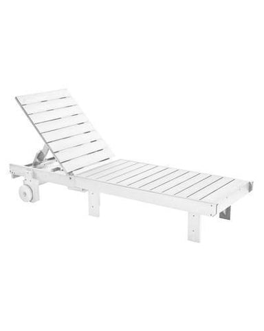 Chaise Lounge, White