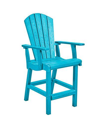 Classic Counter Arm Chair, Turquoise