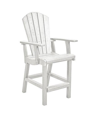 Classic Counter Arm Chair, White