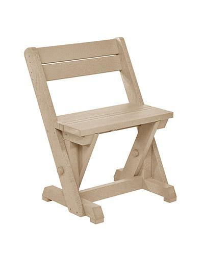Dining Chair With Back, Beige