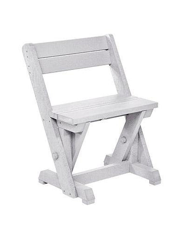 Dining Chair With Back, White