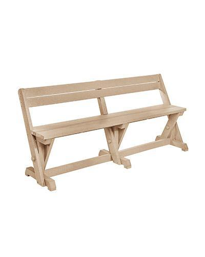 Dining Table Bench With Back, Beige