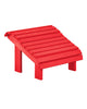 Premium Footstool, Red