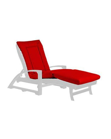 Chaise Lounge Cushion, Canvas Jockey Red