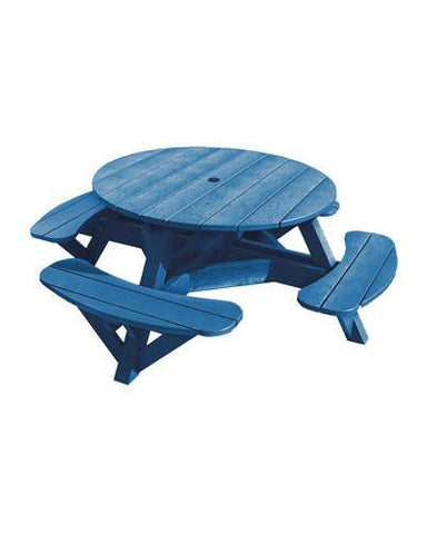 Round Picnic Table, Blue