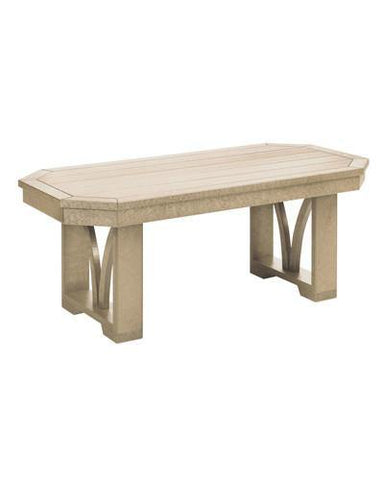 Rectangular Cocktail Table, Beige