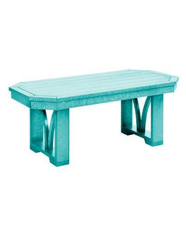 "42"" Rectangular Cocktail Table, Turquoise"