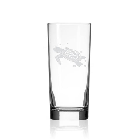 Sea Turtle Cooler Glass 15oz