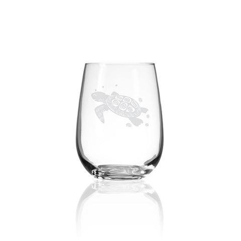 Sea Turtle Stemless Glass 17oz