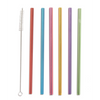 Sippin' Pretty Reusable Straws with Brush Cleaner in Gift Box - Set of 6