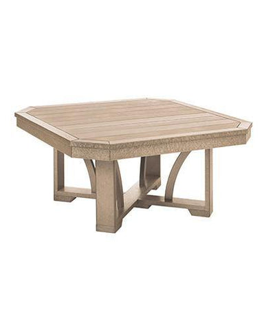 Square Cocktail Table, Beige