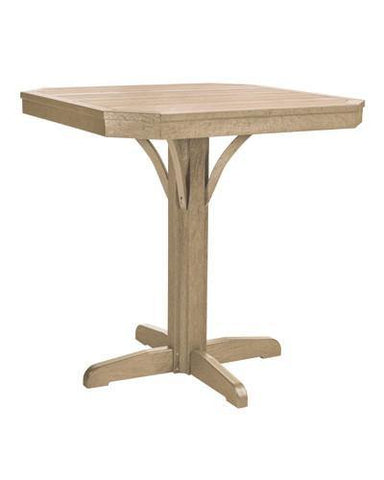 Square Counter Pedestal, Beige