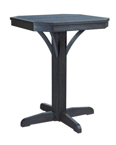 Square Counter Pedestal, Black