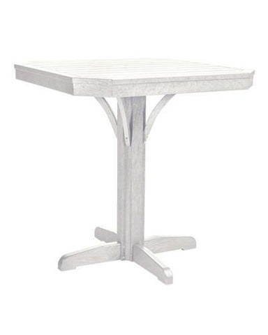 Square Counter Pedestal, White