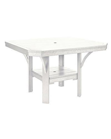 Square Dining Table, White