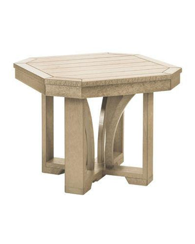 Square End Table, Beige