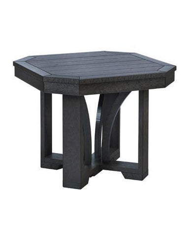 Square End Table, Black