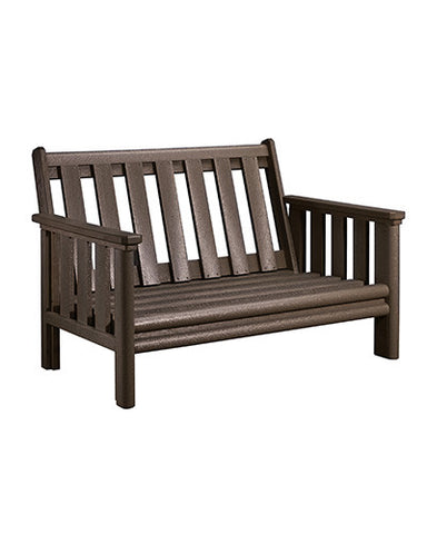 Stratford Loveseat Frame, Chocolate