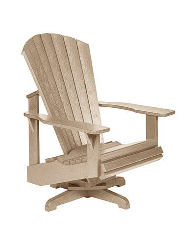 Swivel Adirondack Chair, Beige
