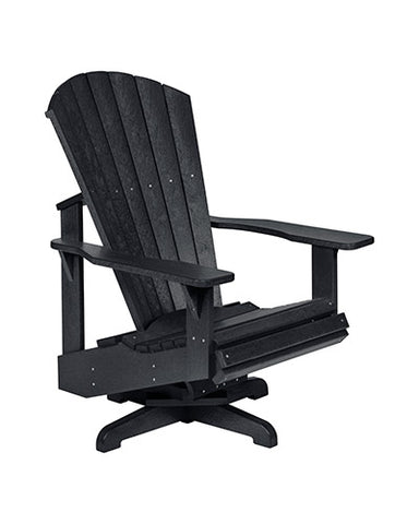 Swivel Adirondack Chair, Black