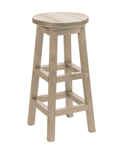 Swivel Bar Stool, Beige