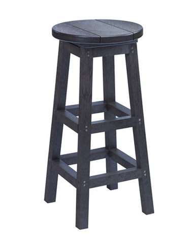Swivel Bar Stool, Black