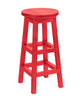 Swivel Bar Stool, Red