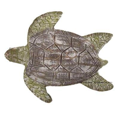 Antique Nautical Sea Turtle