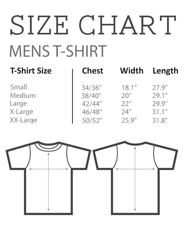 Size Chart - Men's T-Shirt