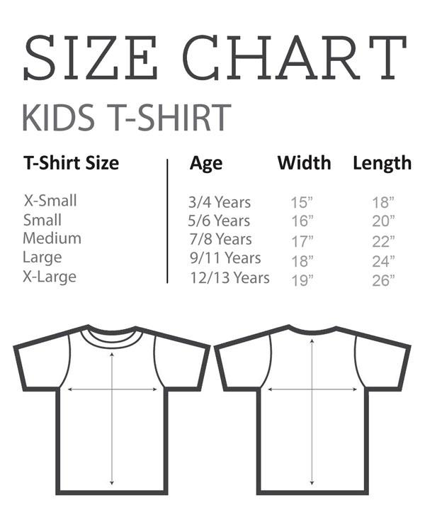 Size Chart - Kid's T-Shirt