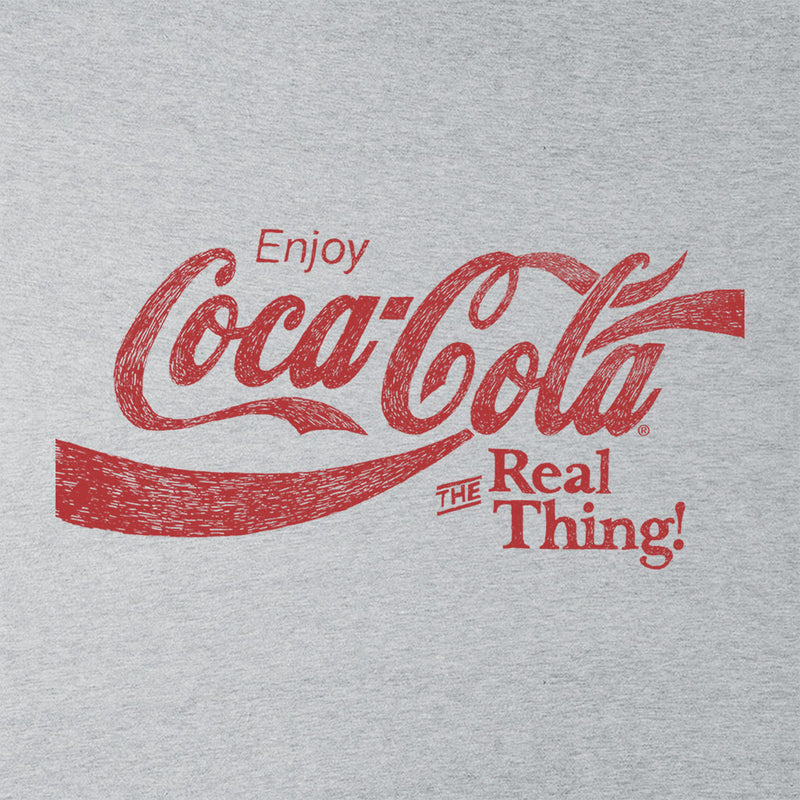 Coca Cola The Real Thing Red Text Men's T-Shirt - POD66