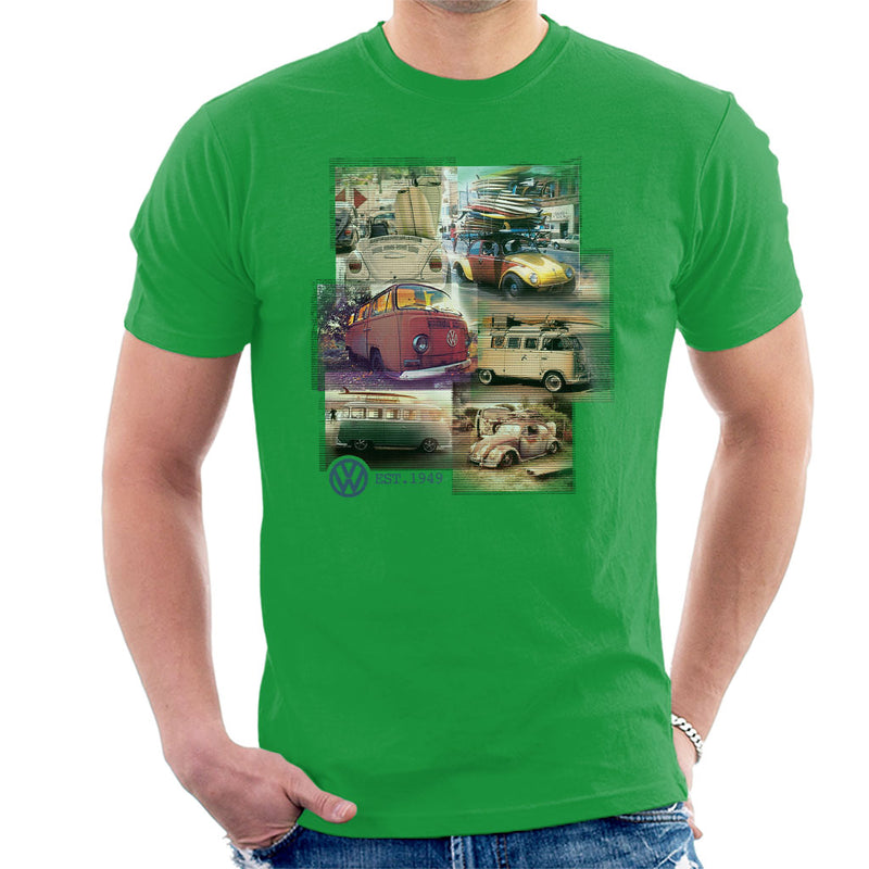 Volkswagen Camper Beetle Collage Men's T-Shirt - POD66