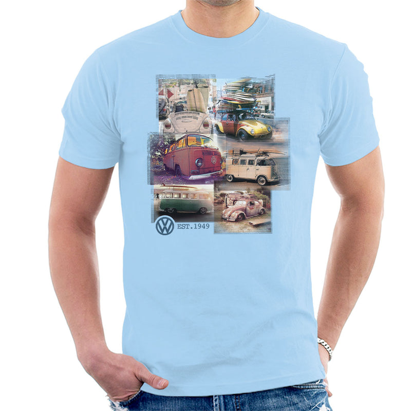 Volkswagen Camper Beetle Collage Men's T-Shirt